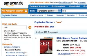 Amazon möchte Sex statt SEO