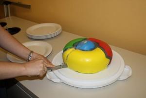 Der Google Chrome Kuchen